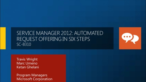 Service Manager 2012: Automated Request Offering in Six Steps