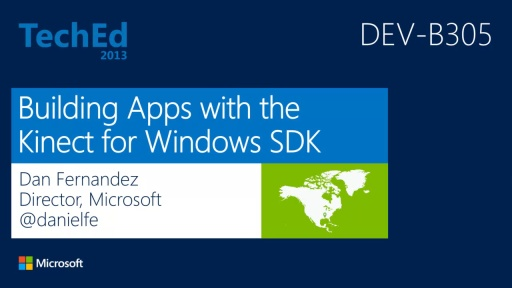 Building Apps with the Kinect for Windows SDK