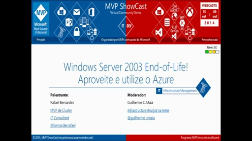 Windows Server 2003 End-of-Life! Aproveite e utilize o Azure