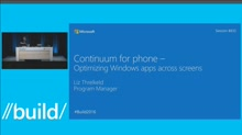 Continuum for Phone: Optimizing Windows Apps Across Screens