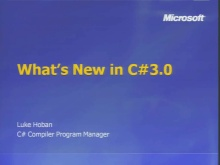 VS2008 Training Kit: What's new in C# 3.0?