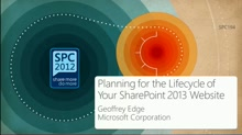 Planning for the Lifecycle of your SharePoint 2013 Website