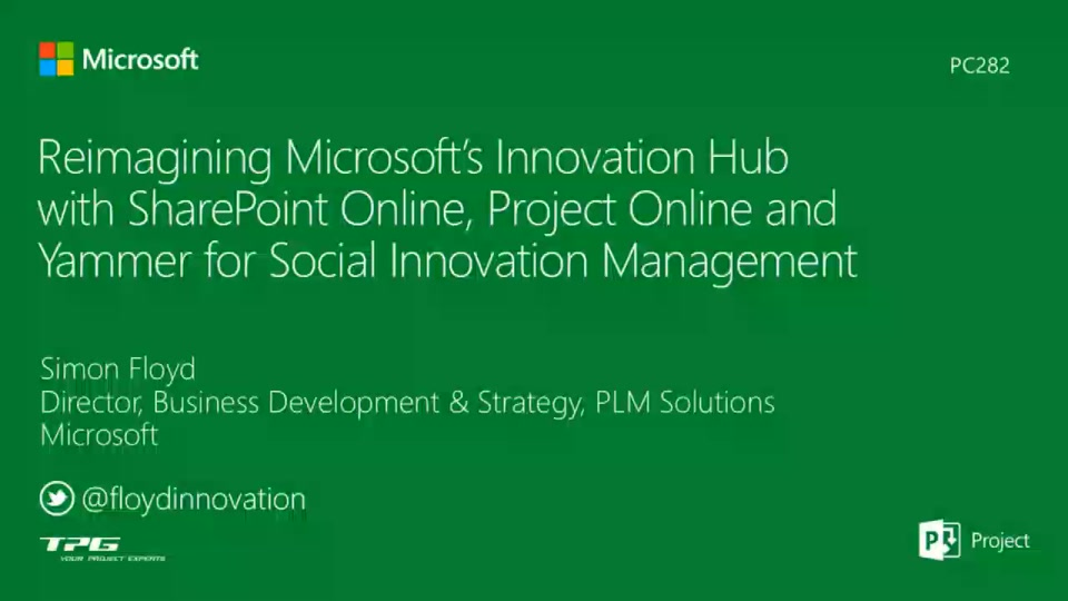 reimagining microsoft 39 s innovation hub with sharepoint online project online and yammer for. Black Bedroom Furniture Sets. Home Design Ideas