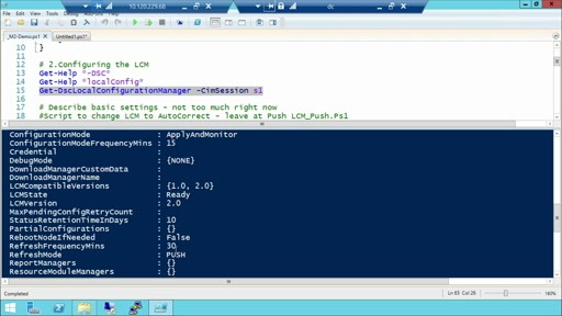Getting Started with PowerShell Desired State Configuration (DSC): (02) Performing a Push Deployment