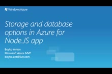 02 | Storage and database options in Azure for Node.JS app