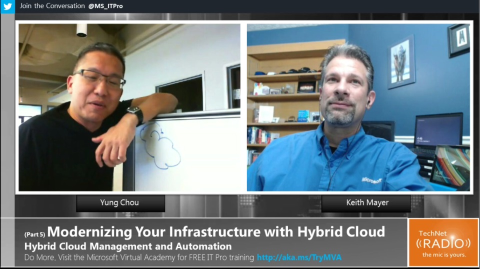 TechNet Radio: (Part 5) Modernizing Your Infrastructure with Hybrid Cloud - Hybrid Cloud Management and Automation