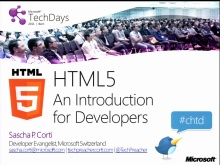 TechDays 11 Bern - Introduction to HTML5 for Web Developers