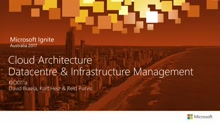 Kick-off: Cloud, Architecture & Infrastructure