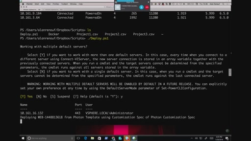 PowerShell on Linux - VMware demo using PowerCLI to deploy VMs