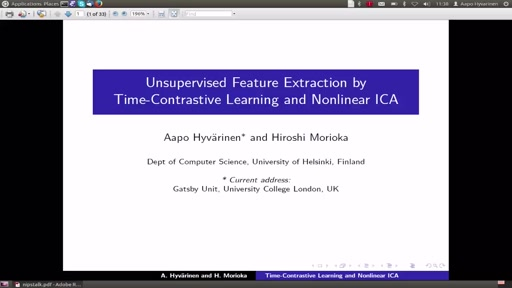 Unsupervised Feature Extraction by Time-Contrastive Learning and Nonlinear ICA