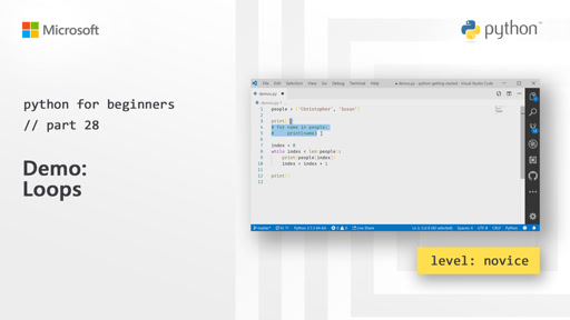Python for Beginners [28 of 44] Demo: Loops