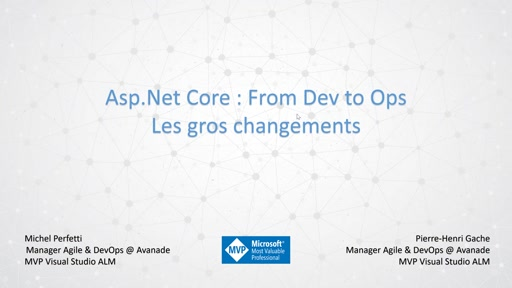 ASP.Net Core: From Dev to Ops - Présentation
