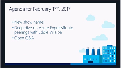 Azure Networking Fridays 2/17/2017
