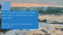 Real World IT - The App for That! 101 of SharePoint Apps (4 of 5)
