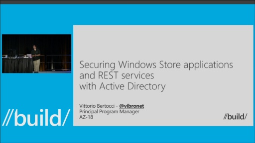 Securing Windows Store Applications and REST Services with Active Directory