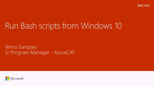 Run Bash scripts from Windows 10