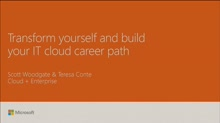 Transform yourself and build your IT cloud career path