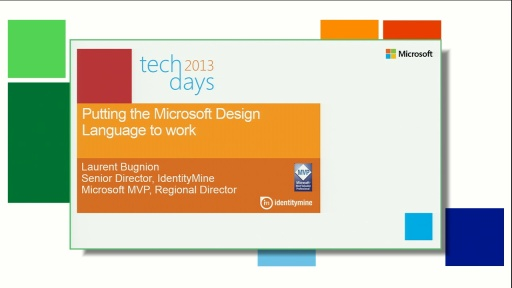 Putting the Microsoft Design Language to work