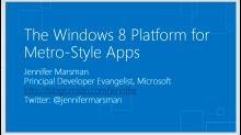 Introduction to the Windows 8 platform and the Windows store