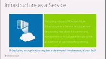 Windows Azure: Infrastructure as a Service