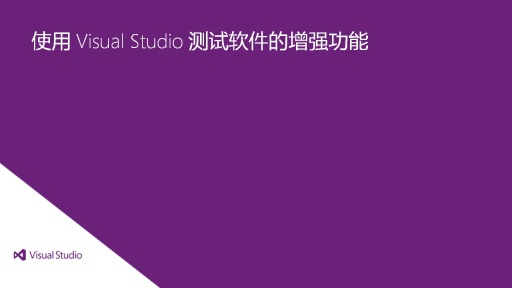 Visual Studio Ultimate 2012: 通过 Visual Studio 增强测试软件的功能