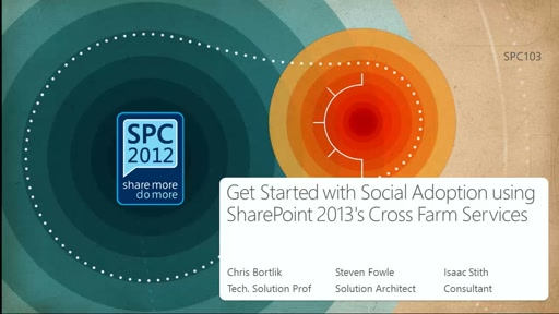 Get Started with Social Adoption using SharePoint 2013's Cross Farm Services