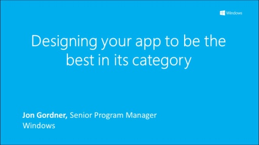 Designing your Windows 8 app to be the best in its category