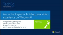Key technologies for building great video experience on Windows 8