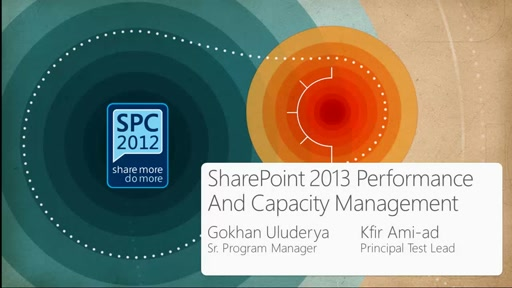 SharePoint 2013 Performance and Capacity Management
