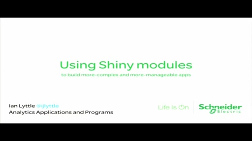 Using Shiny modules to build more-complex and more-manageable apps