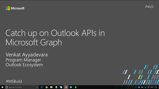 Catch up on Outlook APIs in Microsoft Graph