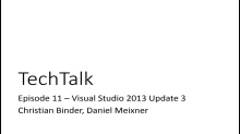 Episode 11 - Visual Studio 2013 Update 3