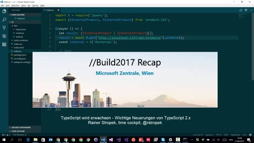 BUILD Tour Wien : Was gibt es Neues in TypeScript 2.x