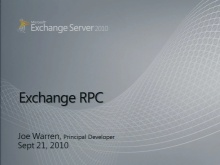 MS-OXCRPC Exchange RPC Part 1