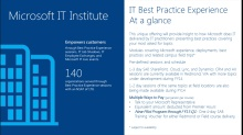 Taste of Premier: Microsoft IT Institute - Your Direct Connection to How Microsoft Does IT