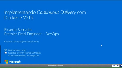 Building continuous delivery with Docker and VSTS