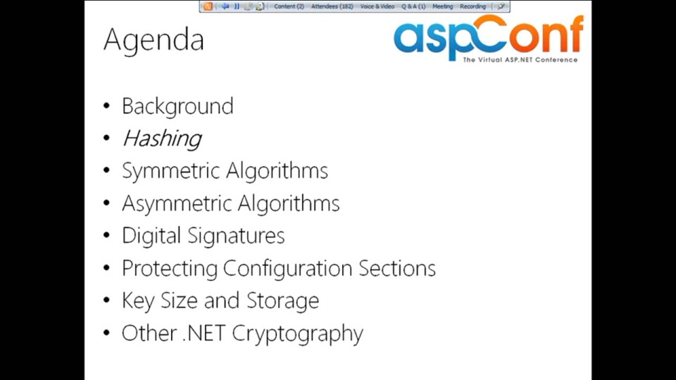 Cryptography 101 Using the .NET Framework and ASP.NET