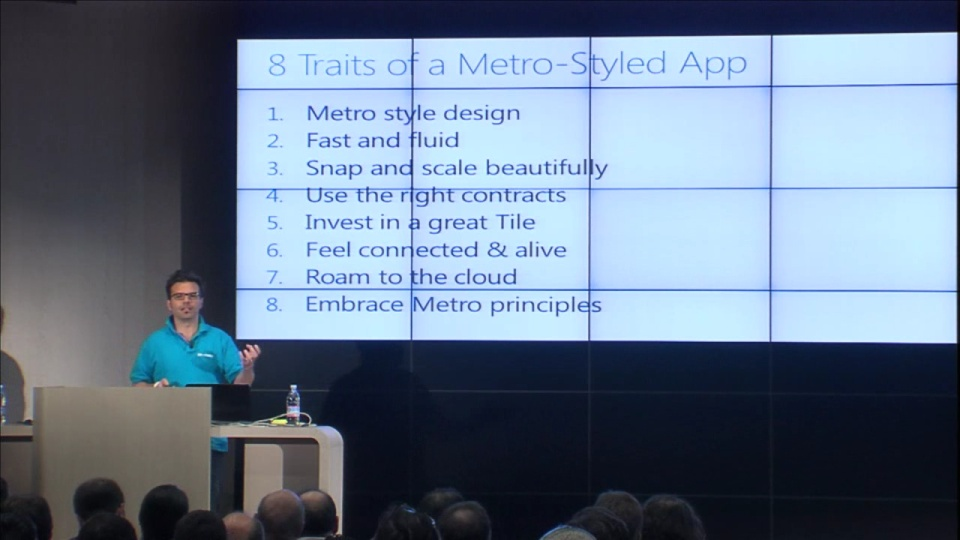 Designing a Metro Style App