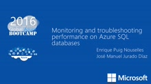 Monitoring and troubleshooting performance on Azure SQL databases