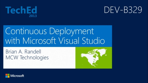 Continuous Deployment with Microsoft Visual Studio