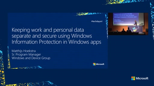 Keeping work and personal data separate and secure using Enterprise Data Protection in Windows apps