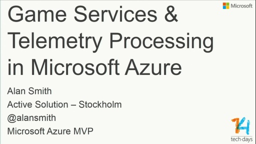 Game Services and Telemetry Processing in Windows Azure