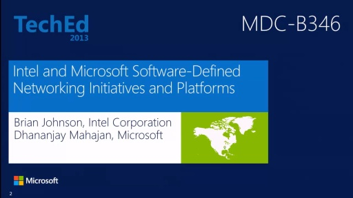 Intel and Microsoft Software-Defined Networking Initiatives and Platforms