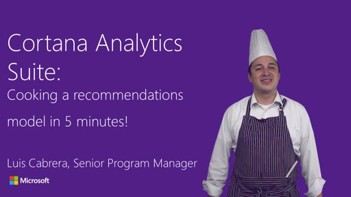 Cortana Analytics: Building a recommendations model in 5 minutes!