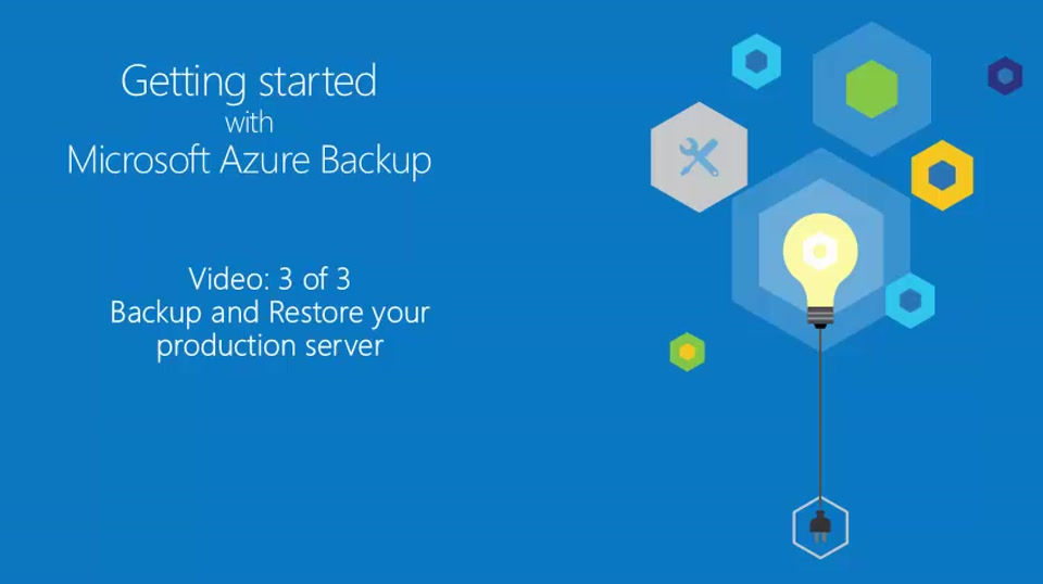 Getting Started with Azure Backup 3 of 3 - Start backing up your production server