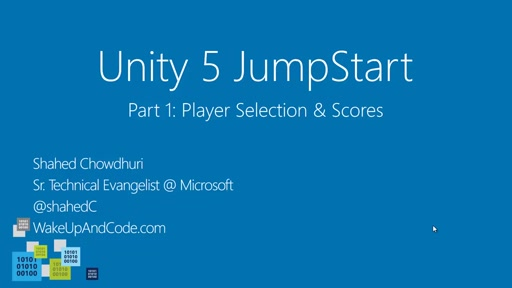 Unity 5 Jumpstart Part 1: Player Selection + Scores