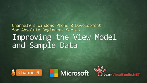 Part 12: Improving the View Model and Sample Data