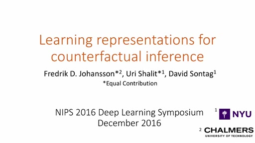 Deep Learning Symposium Session 3