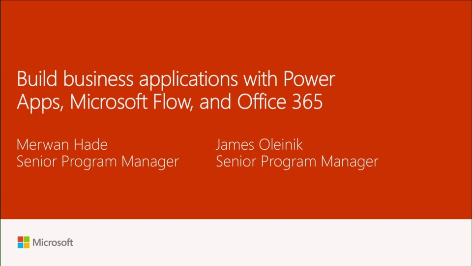 Build business applications with power apps microsoft flow and office 365 microsoft ignite - Formation administration office 365 ...