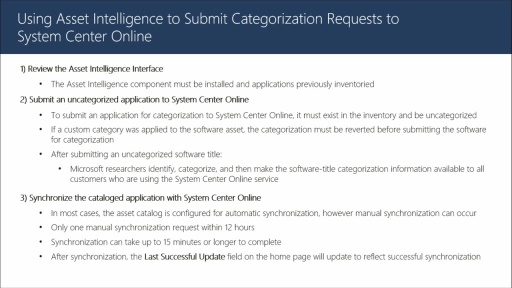 Submitting Categorization Requests to System Center Online